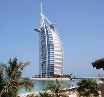 UAE, Dubai, Jumeirah, Burj Al Arab Hotel