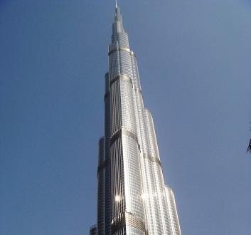 UAE, Dubai, Burj Khalifa and Park