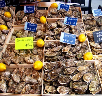 France, Trouville Sur Mer, Oysters