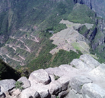 Peru, Atop Wayna Picchu