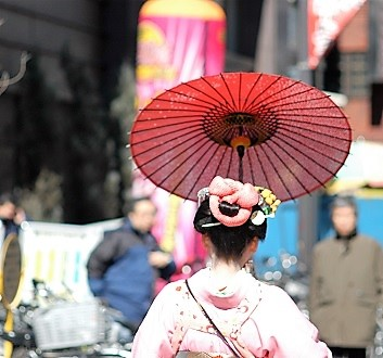 Japan, Tokyo, Geisha