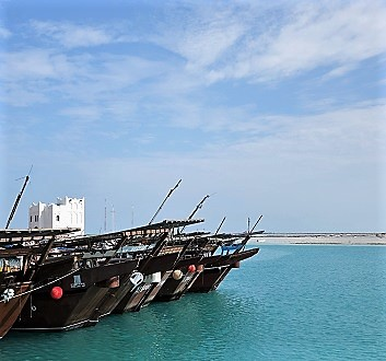 Qatar, North Qatar, Traditional Fishing Boats: Dhow
