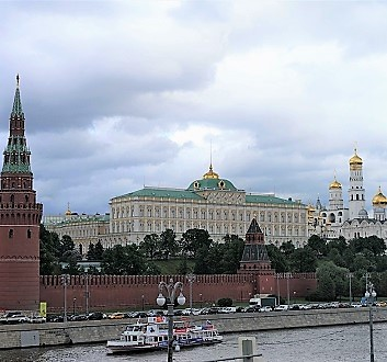 Russia, Moscow, Kremlin, Across Moskva River