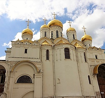 Russia, Moscow, Kremlin's Cathedral Square, Cathedral of Annunciation