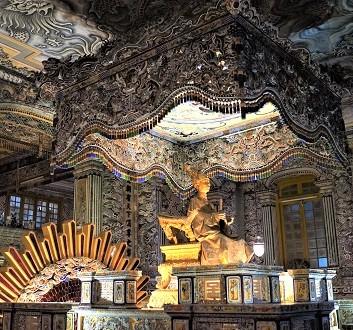 Vietnam, Thien Dinh Palace, Tomb of Khai Dinh