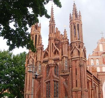 Lithuania, Vilnius, St. Anne's Church