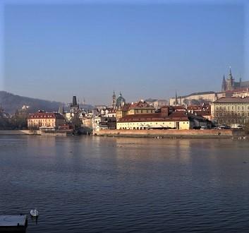 Czech Republic, Prague, View Across Vltava River