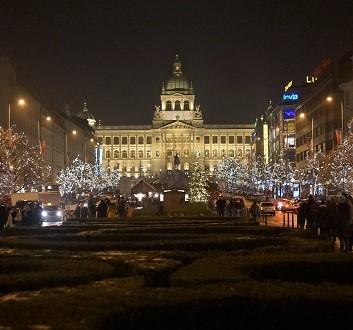 Czech Republic, Prague, Wenceslas Square and National Museum
