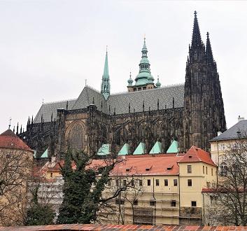 Czech Republic, Prague, Prague Castle and St. Vitus Cathedral