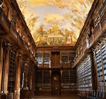Czech Republic, Prague, Strahov Monastery, Philosophical Hall