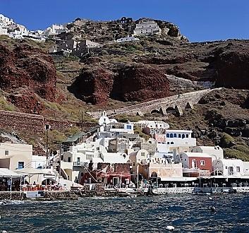 Greece, Santorini, Oia, Ammoudi Bay