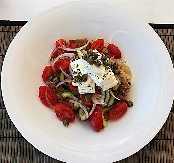 Greece, Santorini, Santorini Salad