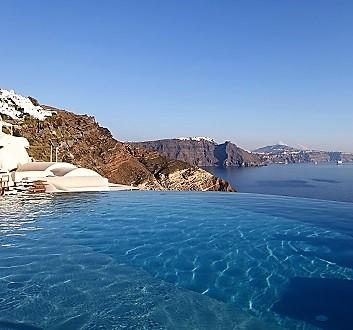 Greece, Santorini, Oia, Mystique Hotel Santorini