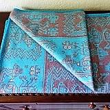 Peru, Blue Baby Alpaca Blanket