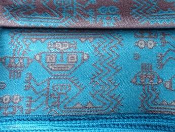 Peru, Niebieski Koc z Wełny Alpaki
