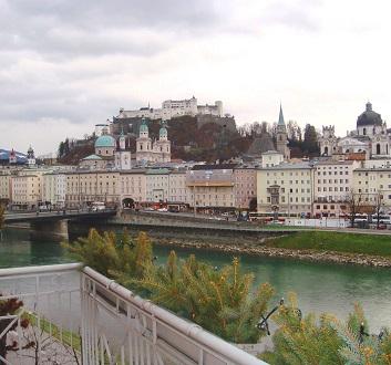 Austria, Salzburg, Hohensalzburg Castle & Old Town