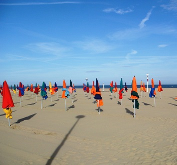 France, Normandy, Deauville Beach