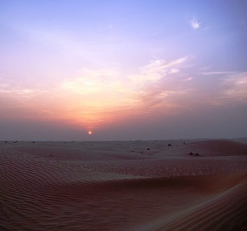UAE, Dubai, Desert Sunset