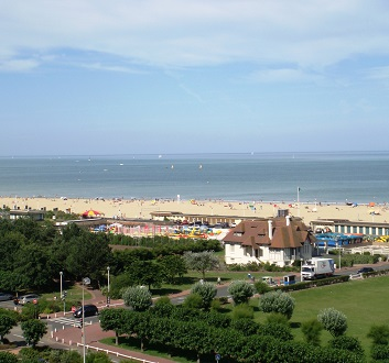 France, Normandy, Deauville Beach View