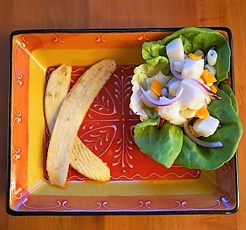 Ceviche with Plantain