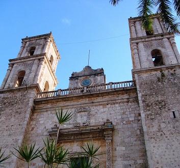 Mexico, Riviera Maya, Valladolid, Cathedral of San Gervasio
