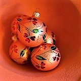 Poland, Orange Christmas Ball Ornaments