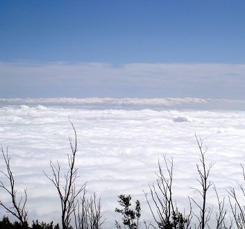 Japan, Mount Fuji, Above Clouds