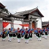 China, Yunnan Province, Lijiang, Traditional Dance Performance