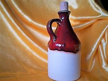Poland, Red Ceramic Bottle