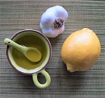Lemon, Garlic, Olive Oil