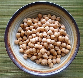 Chick Peas After Being Soaked in Water