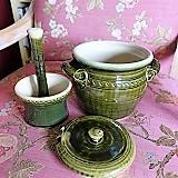 Poland, Ceramic Casserole & Herb Grinder