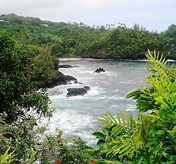 USA, Hawai'i Island, Hamakua Coast, Onomea Bay