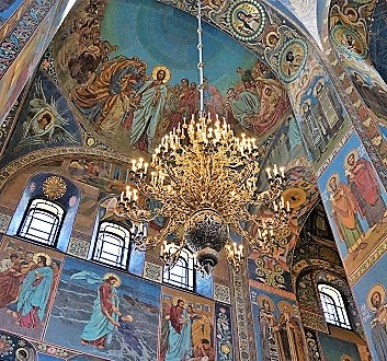 Russia, Saint Petersburg, Church of Resurrection of Jesus Christ