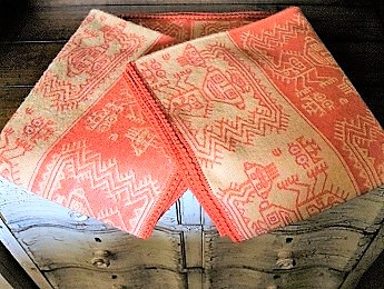 Peru, Orange Baby Alpaca Blanket