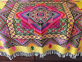 China, Tibetan Tablecloth