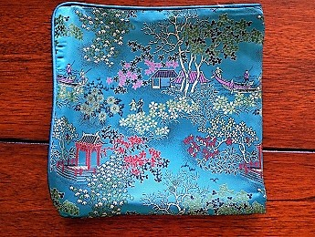 China, Turquoise Pillow Case