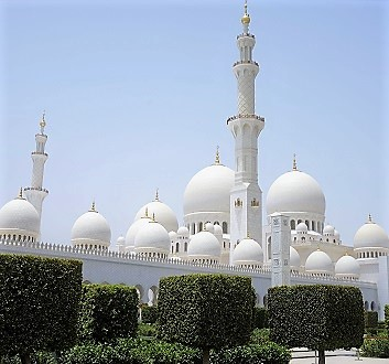 UAE, Abu Dhabi, Sheikh Zayed Mosque