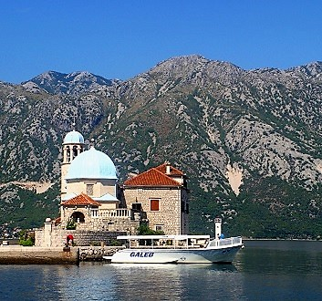 Montenegro, Bay of Kotor, Abbey of Saint George