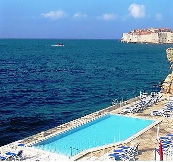 Croatia, Dubrovnick, Grand Villa Argentina Hotel, Swimming Pool