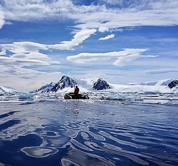 Antarctica, Penola Strait, Kayak Excursion