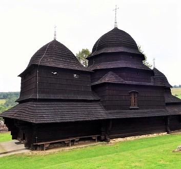 Poland, Bieszczady, Równia, Wooden Church