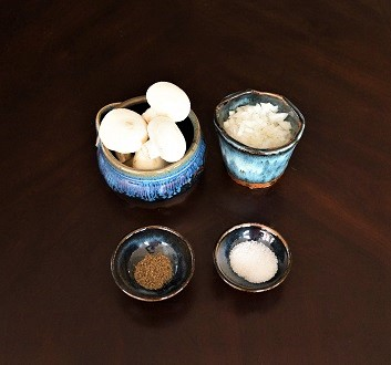 Mushrooms, Onion, Salt, Ground Pepper