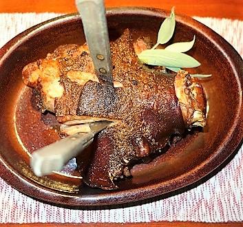 Slovakia, Koliba Patria Restaurant, Roasted Pork Shank