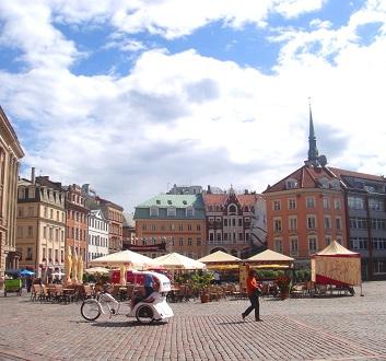 Latvia, Riga, Doma Laukums