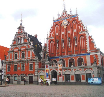 Latvia, Riga, House of Blackheads