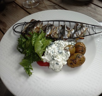Estonia, Tallinn, Grilled Baltic Herring