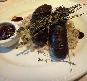 Latvia, Riga, Blood Sausage