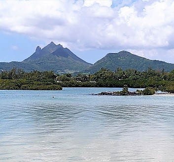 Africa, Mauritius, View at the Beach