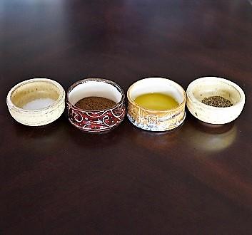 Salt, Allspice, Olive Oil, Pepper